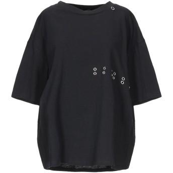 《セール開催中》MANGANO レディース T シャツ ブラック S コットン 100%