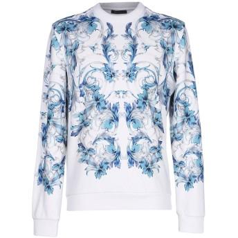 《9/20まで! 限定セール開催中》VERSACE メンズ スウェットシャツ ターコイズブルー S コットン 90% / ポリウレタン 10%