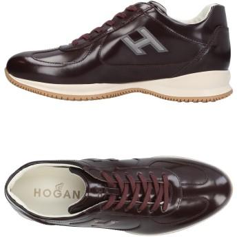 《セール開催中》HOGAN メンズ スニーカー&テニスシューズ(ローカット) ココア 6 革