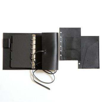 KAKURA システム手帳 ミニ6穴 ブラック LS017BKK