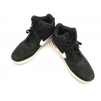 【中古】 ナイキ スニーカー 28.5 メンズ コート バーロウ ミッド SL 844885-010 黒 白 化学繊維 合皮