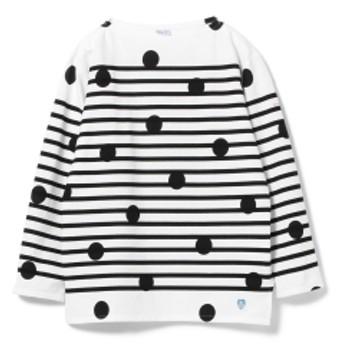 ORCIVAL / ドット ストライプ Tシャツ メンズ カットソー BLK DOT 3