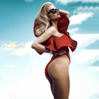 女性 セクシーな黒 赤 白 ワンショルダーフリルボディスーツレオタードトップスロンパースメッシュビーチホットボディースーツスリムキャ