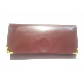 【中古】 カルティエ Cartier クラッチバッグ マストライン ボルドー レザー