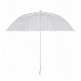 +TIC プラスチック 長傘 手開き グラフィック ライン 全5色 グラフ チェック オールプラスチック製 張り替え可能 8本骨 60cm PT706