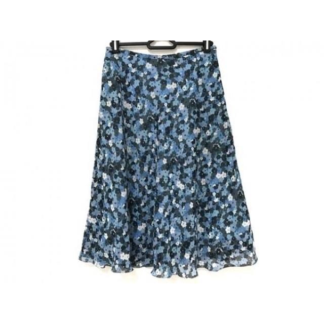 【中古】 ソニアリキエル スカート サイズ38 M レディース ライトブルー ブルー グレー 花柄