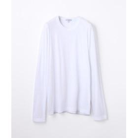 トゥモローランド クルーネック長袖Tシャツ MLJ3351 メンズ ホワイト 1(M) 【TOMORROWLAND】