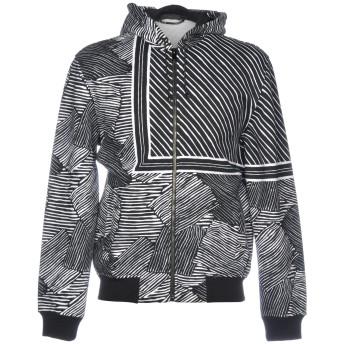 《9/20まで! 限定セール開催中》VERSACE メンズ スウェットシャツ ブラック XS コットン 100%