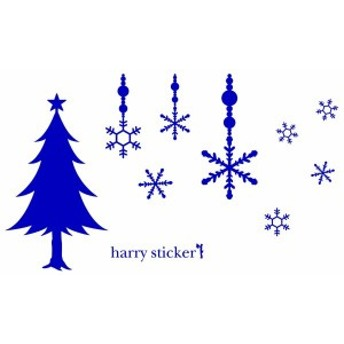 HARRY STICKER ウォールステッカー 貼ってはがせる 転写式 クリスマスツリーと壁飾り (christmas tree a