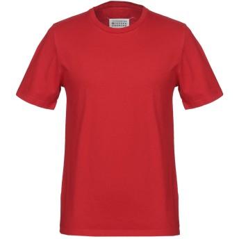 《セール開催中》MAISON MARGIELA メンズ T シャツ レッド 46 コットン 100%