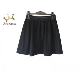 アニエスベー agnes b ミニスカート サイズ38 M レディース 黒 TO★b     スペシャル特価 20190802