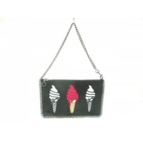 【中古】 ステラマッカートニー ハンドバッグ 美品 ファラベラ 黒 マルチ ソフトクリーム 合皮