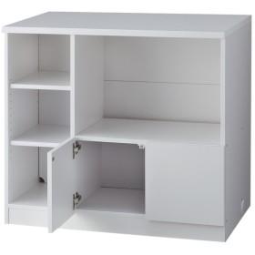 対面式キッチンカウンター 幅90cm家電 ホワイト 幅90×奥行60×高さ83cm キッチン収納