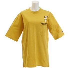 【Super Sports XEBIO & mall店:トップス】スヌーピー 5分袖 ゆるチュニック Tシャツ 1847225L-2-YEL