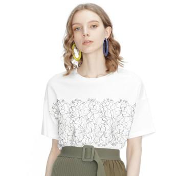 【オンワード】 GRACE CONTINENTAL(グレースコンチネンタル) リバーレースTシャツ ホワイト 36 レディース