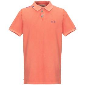 《セール開催中》PROJECT E メンズ ポロシャツ サーモンピンク S コットン 100%