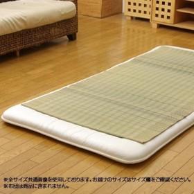 純国産 い草のシーツ(寝ござ) 『清風』 ブルー シングル 約88×180cm 7410559