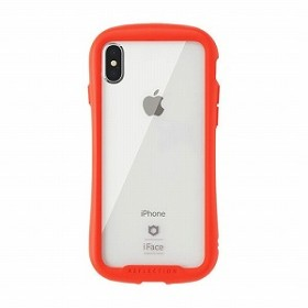 HAMEE [iPhone XS Max専用]iFace Reflection強化ガラスクリアケース 41-907283 レッド