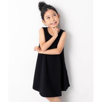 デビロック キッズ 子供服 フレアタンクワンピース 女の子 レディース ブラック 100 【devirock】