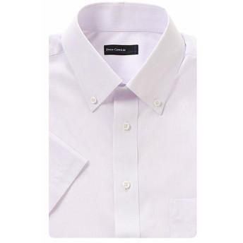涼感織り半袖レギュラードレスシャツ(メンズ) ラベンダー
