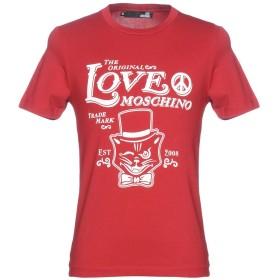《期間限定セール中》LOVE MOSCHINO メンズ T シャツ レッド S コットン 95% / ポリウレタン 5%