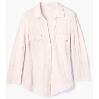 トゥモローランド サイドパネルシャツ WUA3042 レディース 32ピンク系 1(M) 【TOMORROWLAND】
