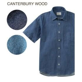 シャツ カジュアル メンズ CANTERBURY WOOD カンタベリーウッド デニム 半袖 トップス M/L/LL ニッセン