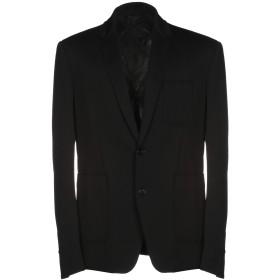 《セール開催中》DONDUP メンズ テーラードジャケット ブラック 48 100% ナイロン