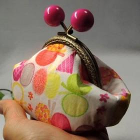 8.5cmあめ玉の口金・がま口財布・小物入れにどうぞ!・可愛いチャームプレゼント!