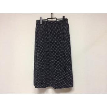 【中古】 バーバリーズ Burberry's スカート サイズ13BR レディース 美品 黒 白 ドット柄