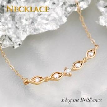 K10 ゴールド ネックレス デコルテ バー ダイヤモンド プレゼント ギフト