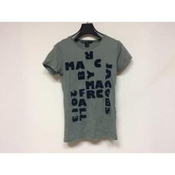 【中古】 マークバイマークジェイコブス 半袖Tシャツ サイズS レディース カーキ ネイビー ベロア