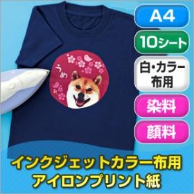 インクジェットカラー布用アイロンプリント紙(A4・10シート) サンワダイレクト サンワサプライ JP-TPRCLN-10