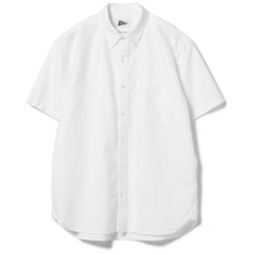 Pilgrim Surf+Supply / Trent Button Down SS Oxford Shirt メンズ カジュアルシャツ WHITE XS