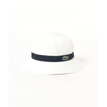 LACOSTE / 別注 3パネル ハット レディース ハット WHITE ONE SIZE