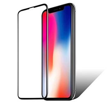 iPhoneXS 保護フィルム ガラス 全面 保護 6D フチまで覆う 2018年 新設計 アイフォン XS 5.8インチ 液晶 画面 滑らか 感度 良好 3Dタッチ 対応 硬度 9H 高透過率 クリ