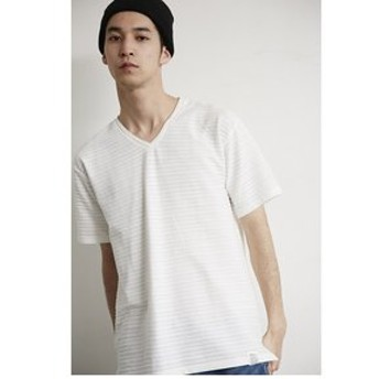 【AZUL by moussy:トップス】【MEN'S】Tuck Jersey Vneck S/Sleeve