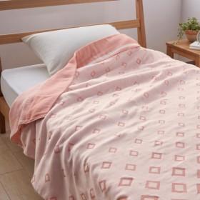 タオルケット ケット 今治産やわらかガーゼケット菱文 カラー 「ピンク」