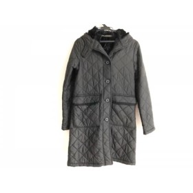 【中古】 マッキントッシュ MACKINTOSH コート サイズ34 S レディース 黒 冬物/キルティング/内ボア