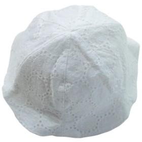 《初夏盛夏対応》(日本製) Pample Mousse(パンプルムース) 60ローンレースUVカット帽子 48cm/OW NO.DP-826