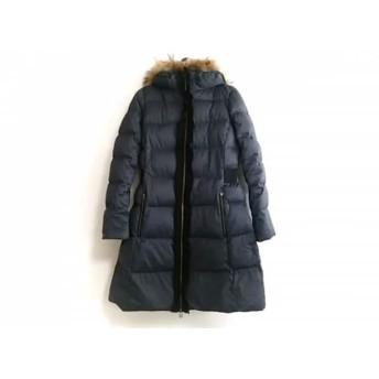 【中古】 ランバンオンブルー LANVIN en Bleu ダウンコート サイズ36 S レディース ネイビー 冬物