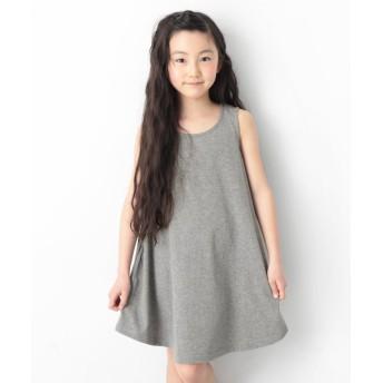 デビロック キッズ 子供服 フレアタンクワンピース 女の子 レディース 杢グレー 130 【devirock】