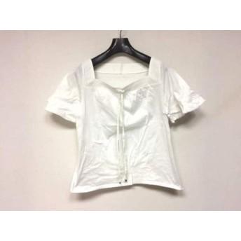 【中古】 ニジュウサンク 23区 半袖カットソー サイズ46 XL レディース 美品 白