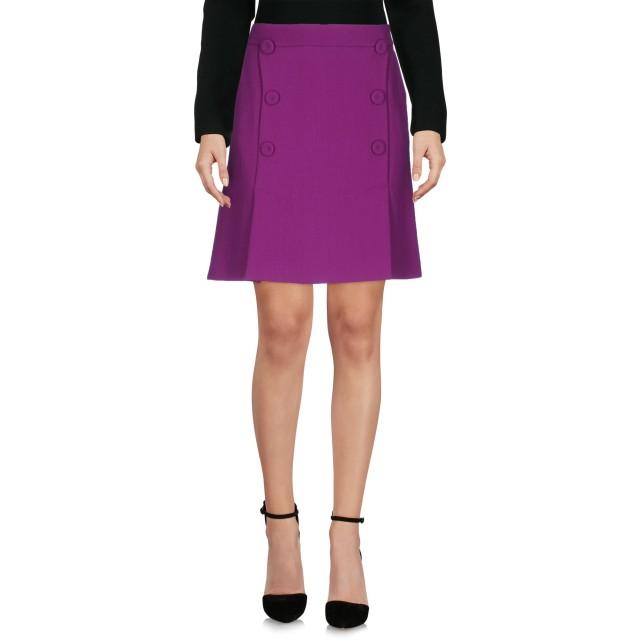 《セール開催中》BOUTIQUE MOSCHINO レディース ひざ丈スカート パープル 42 100% バージンウール