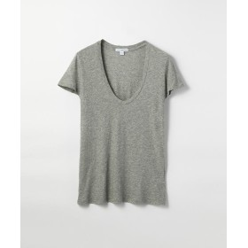トゥモローランド ベーシック UネックTシャツ WHM3449 レディース グレー 2(L) 【TOMORROWLAND】