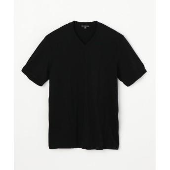 トゥモローランド リュクス ジャージーVネックTシャツ MELJ3248 メンズ 19ブラック 1(M) 【TOMORROWLAND】