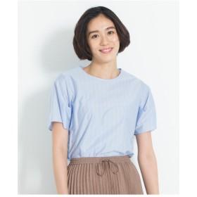 自由区 【洗える】STRIPE JERSEY カットソー Tシャツ・カットソー,スカイブルー系1