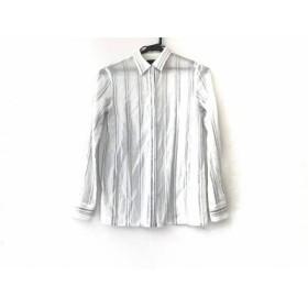 【中古】 セオリー 長袖シャツブラウス サイズS レディース アイボリー ライトブルー ストライプ 綿