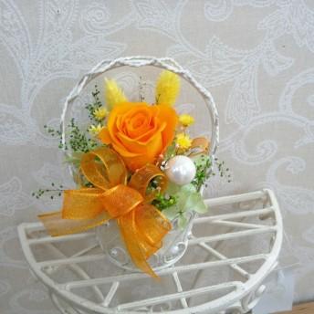 プリザーブドフラワー一輪アレンジ フルーティーオレンジ
