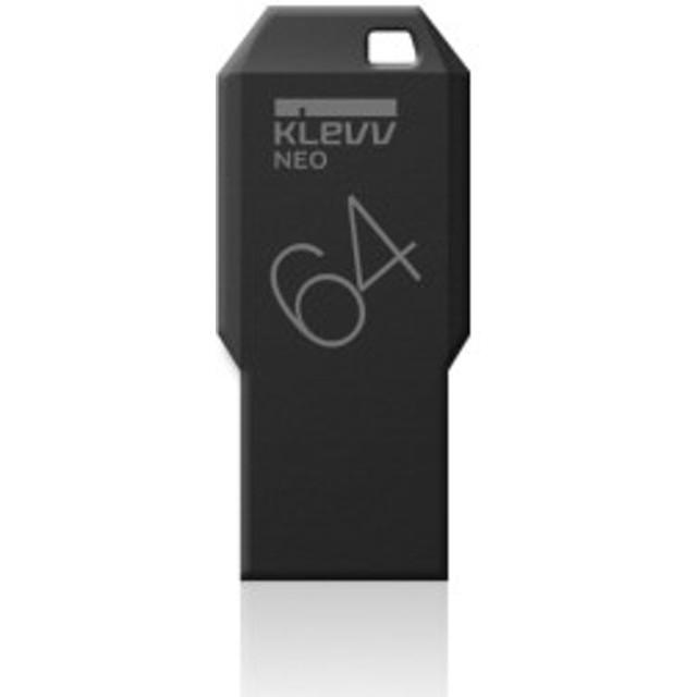 ESSENCORE KLEVV  USBメモリ 64GB USB3.0対応 NEOブラックエディション / 永久保証 / ブラック U064GUR3-NEEC